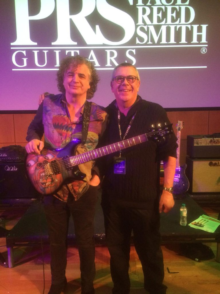 Pete Oakley and Jakko Jakszyk of King Crimson with the PRS SE Schizoid Guitar