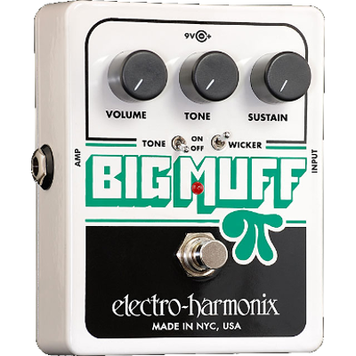 Electro Harmonix Big Muff Pi With Tone Wicker Distortion Sustainer Fuzz Guitar Effects Pedal EHX