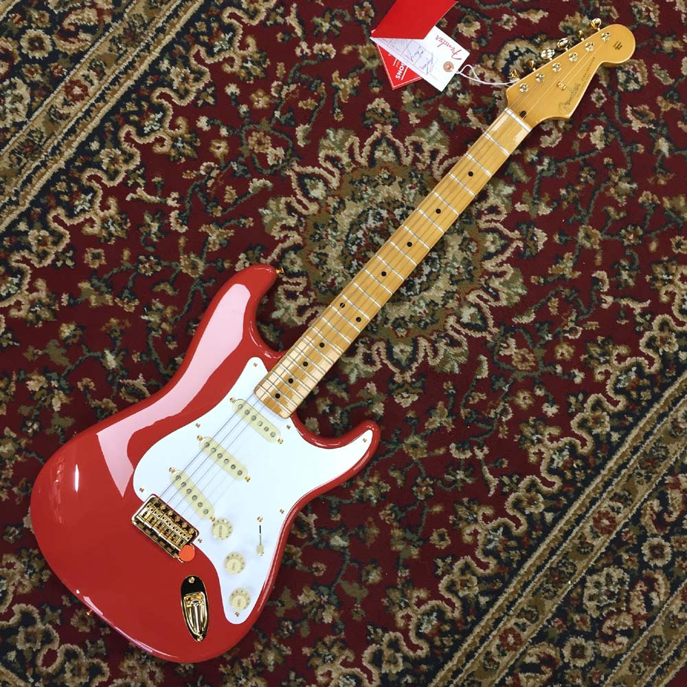 Fender Ltd Edition FSR 50's Stratocaster Faded Fiesta Red, Gold Hardware  (With Tweed Hard Case)