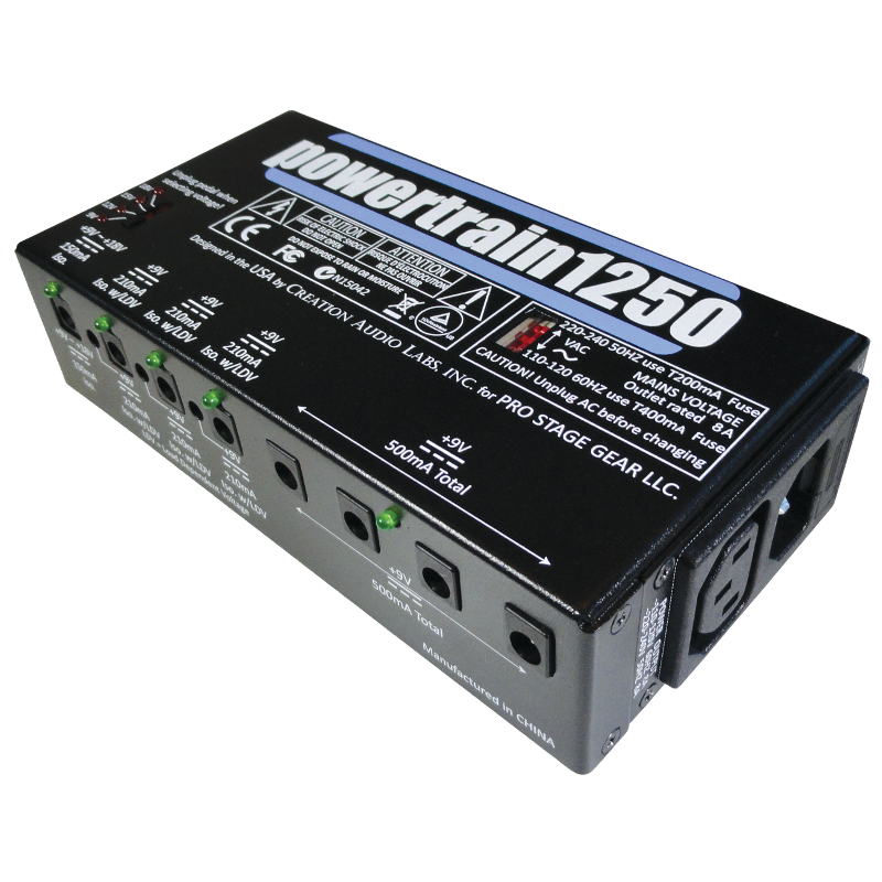 pedaltrain powertrain pt 1250 pedalboard power supply