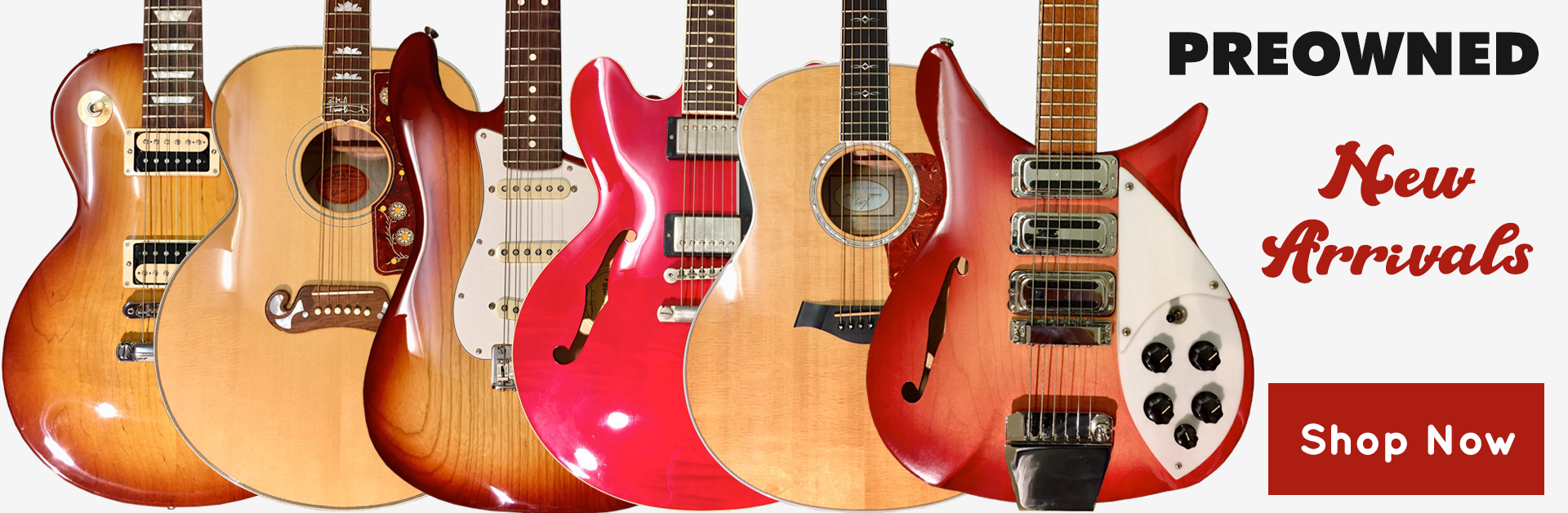 Preowned Guitars - In Stock Now